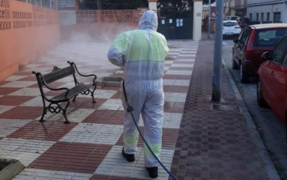 Avenidas, frontera y paseos marítimos han centrado hoy los trabajos de desinfección de Limpieza