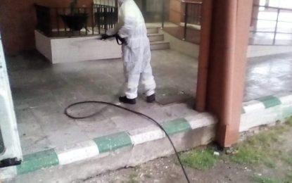 Los trabajos de desinfección se han realizado hoy por diferentes barriadas