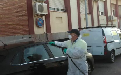 Limpieza desarrolla una nueva fase de desinfección en zonas como la Comisaría y la Jefatura de la Policía Local