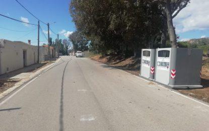 Limpieza recupera el punto de contenedores en el Camino de Estepona
