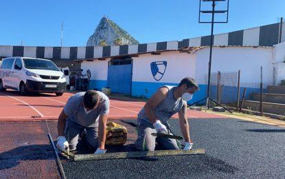 Iniciadas las obras de reparación de la pista de atletismo del Estadio Municipal