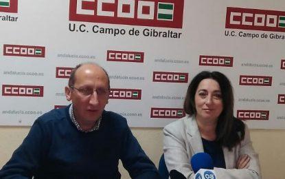 CCOO traslada a sus homólogos gibraltareños su preocupación por los trabajadores de la dependencia en la Roca
