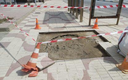 La empresa concesionaria del mantenimiento urbano ya trabaja en reparaciones de acerado