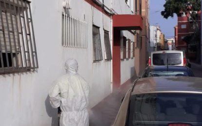 Realizados trabajos de desinfección por diferentes calles del centro de la ciudad e inmediaciones