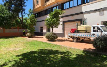 Los trabajos de desinfección se han centrado hoy en la zona de La Velada