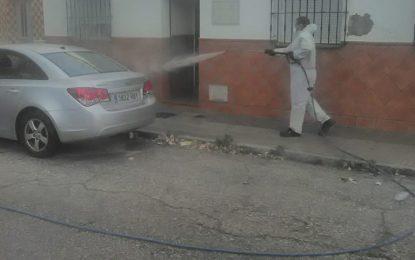 Limpieza y Bomberos desinfectan la frontera, San Bernardo y los centros de Asansull