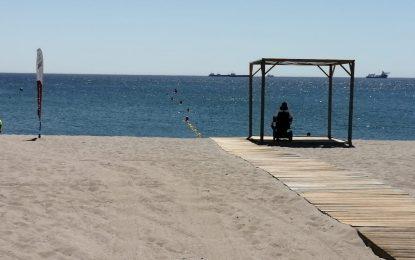 Playas incorpora a las zonas de litoral  módulos acotados de sombra para uso exclusivo de personas con movilidad reducida