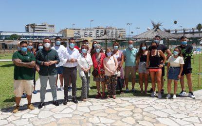 El alcalde visita el Complejo Deportivo Municipal de Asansull que reabre sus puertas el 1 de julio
