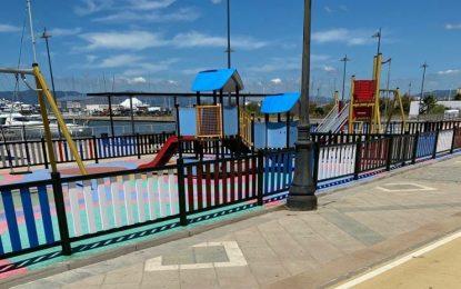 Mantenimiento Urbano finaliza el pintado del parque infantil de Poniente