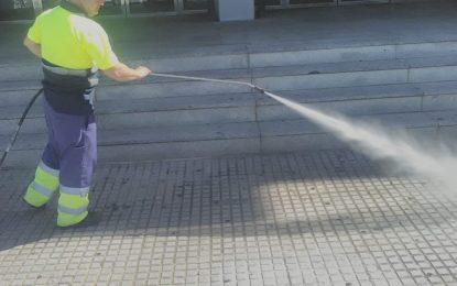 Limpieza continúa con los trabajos de baldeo nocturno y desinfección por distintas zonas de la ciudad