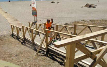 La delegación de Playas mejora las infraestructuras en varios puntos del litoral