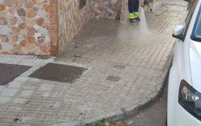 Limpieza prosigue con los trabajos de desinfección por distintas zonas de la ciudad
