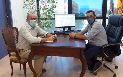 El alcalde avanza con Apymell y Alaho la concesión de ayudas a pymes y autónomos