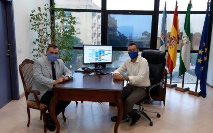 El alcalde recibe a Juan José Sanz, nuevo delegado del Ministerio de Asuntos Exteriores  en el Campo de Gibraltar