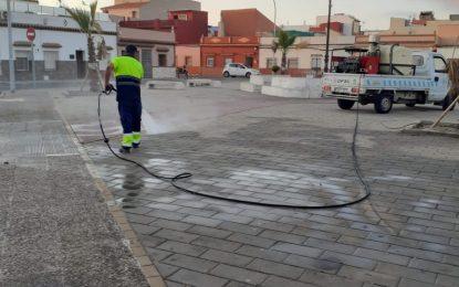Limpieza desarrolla trabajos de desinfección en La Velada y San Bernardo