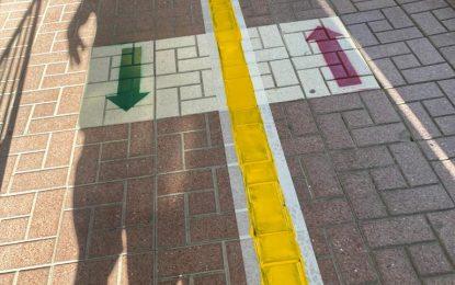Mantenimiento Urbano finaliza los trabajos de pintado de colegios para delimitar espacios en los patios a consecuencia del Covid-19