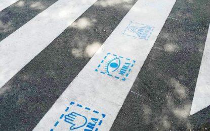 Verdemar Ecologistas en Acción y EPRO /CD Campo de Gibraltar CF La Linea quieren promover en la ciudad la inclusión de pictogramas justo delante de los pasos de cebra en todo el Campo de Gibraltar