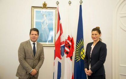 La Embajadora de Georgia en el Reino Unido visita Gibraltar en el marco de una visita oficial para abordar las sinergias entre ambos países
