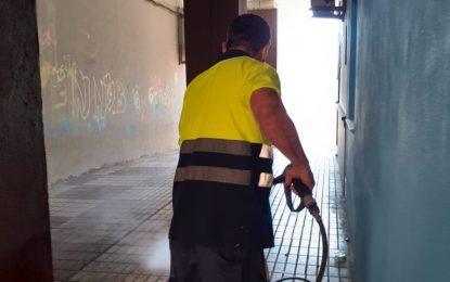 Limpieza ejecuta trabajos de desinfección en San Bernardo