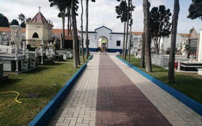 Mantenimiento Urbano finaliza  los arreglos en el cementerio de San José