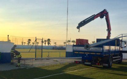 Deportes continua con las mejoras en el complejo de fútbol municipal