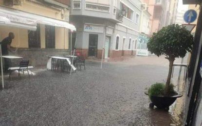Mantenimiento Urbano certifica que las inundaciones en algunas calles se debieron a la intensidad de la lluvia caída en poco tiempo