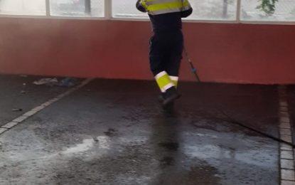 Limpieza realiza nuevos trabajos de desinfección por la barriada de San Bernardo y Poniente