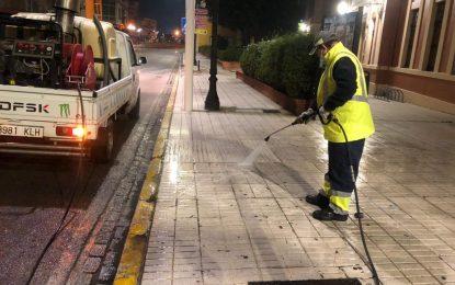 Los trabajos de desinfección de Limpieza se han desarrollado por la barriada de Los Junquillos e inmediaciones de la Avenida de España