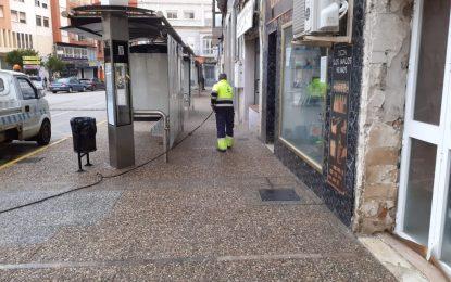 Los trabajos de desinfección se han desarrollado hoy por la zona centro y Ronda Norte