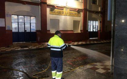 Los trabajos de desinfección de Limpieza se han centrado en la zona de Los Junquillos y el centro de la ciudad
