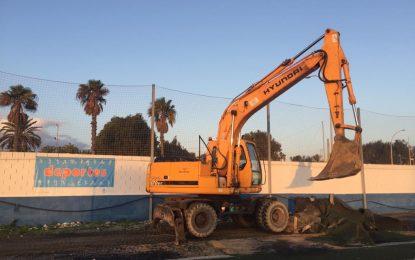 Deportes acomete obras de mejora y cerramiento en los campos de fútbol Antonio Reyes y Francisco Pozo
