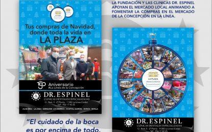 Clínicas Espinel promueve una campaña para que los linenses y algecireños hagan en sus respectivos mercados las compras navideñas