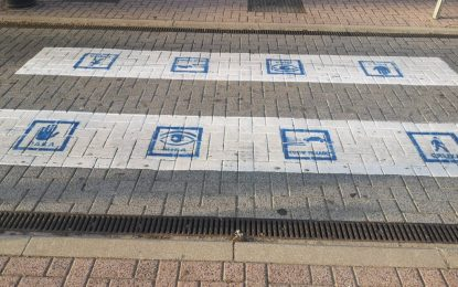 Movilidad Urbana pintará con pictogramas pasos de peatones para favorecerla movilidad de niños/as con autismo