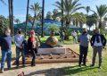 """Inaugurada en el parque Princesa Sofía la escultura de Jorge Caballero """"el caracol"""""""