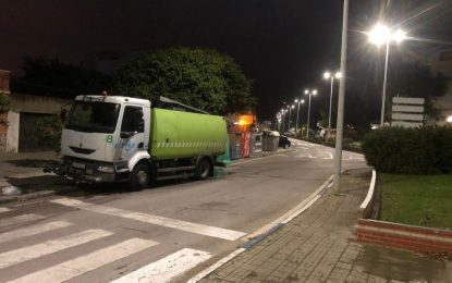Limpieza desarrolla trabajos de desinfección en distintas avenidas y plazas de las zonas centro y semicentro