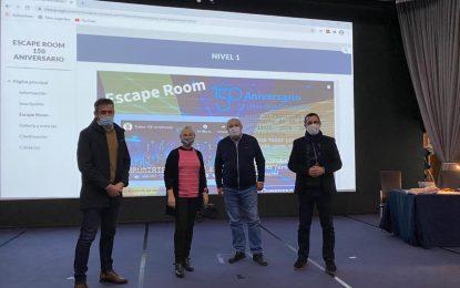 El alcalde y el concejal de Educación han visitado hoy el IES Tolosa organizador del Escape Room con motivo del 150 Aniversario de la ciudad