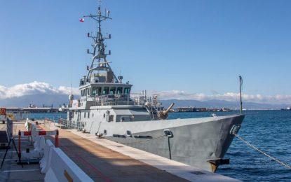 Un cutter de Vigilancia de Fronteras del Reino Unido recala en Gibraltar