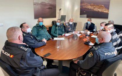 Reunión de José Pacheco para coordinar el paso por la frontera de Gibraltar