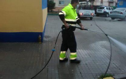 Los trabajos de desinfección se han centrado hoy en la barriada de Periáñez