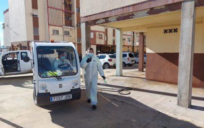 Los trabajos de desinfección de Limpieza se han centrado en la zona de Huerta Fava y Poniente