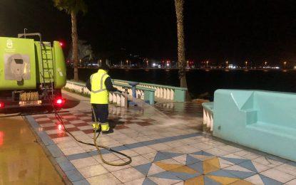 Los trabajos de desinfección de Limpieza se han desarrollado en la zona de Poniente, el centro de la ciudad y Mirasierra