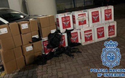 La Policía Nacional interviene en dos actuaciones realizadas en La Línea de la Concepción 1.500 litros de combustible y 10.000 cajetillas de tabaco de contrabando