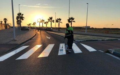 Mantenimiento Urbano acomete el pintado de pasos de peatones