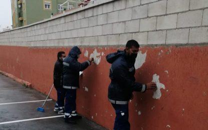 Mantenimiento Urbano acomete trabajos de sustitución de acerados en distintas zonas de la ciudad