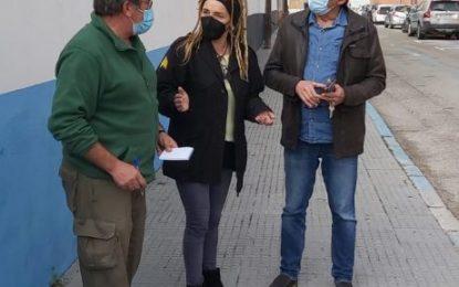 Raquel Ñeco supervisa las últimas actuaciones del Plan de Arbolado Urbano junto al director de Obras del proyecto