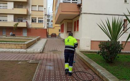 Los trabajos de desinfección de Limpieza se han desarrollado por Los Junquillos y San Bernardo