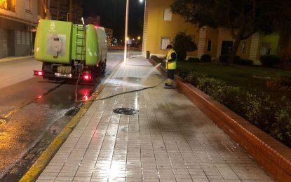 Los trabajos de desinfección de Limpieza se han desarrollado por la zona de Huerta Fava