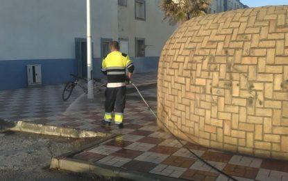 Los trabajos de desinfección de Limpieza se han centrado en la barriada de San Bernardo