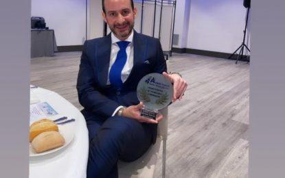 El odontólogo linense, Antonio Sanchez Espinel, ha recibido un nuevo reconocimiento a través de la Asociacion Europea de Industria, Tecnología e Innovación