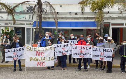 El alcalde, Juan Franco, no asiste a la manifestación contra la subestación eléctrica